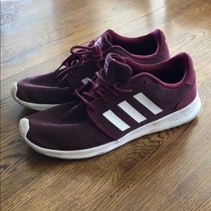 Women's adidas cloudfoam maroon size 9 shoes Nike